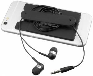 Slúchadlá s káblom a silikónové puzdro na telefón