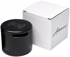 Kovový Bluetooth® reproduktor s bezdrôtovou nabíjacou podložkou Jones