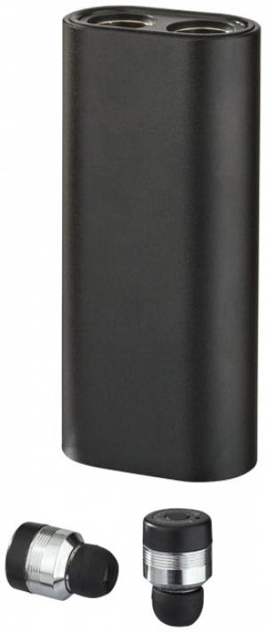 Kovové slúchadlá TrueWirless s PowerBank