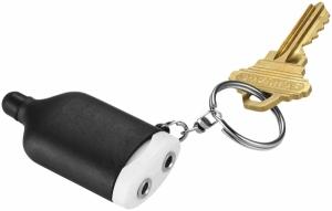 Hudobný rozbočovač a stylus ako prívesok na kľúče 2-v-1