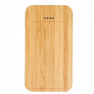 Future bezdrôtová PowerBank s kapacitou 6 000 mAh a materiálom bambus / látka