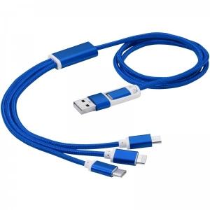 Nabíjací kábel 3v1 s dvojitým vstupom Versatile