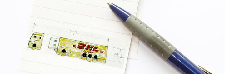 Skica reklamného USB kľúča