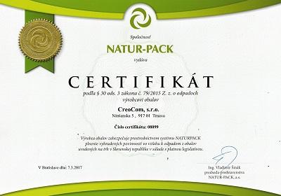 Certifikát 3
