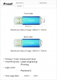 USB Klasik 104 - usb s potlačou - 2